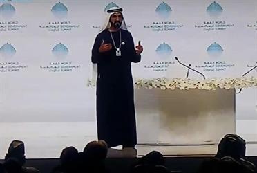 محمد بن راشد يروي قصة طلب معمر القذافي مساعدته في بناء مدينة مثل دبي (فيديو)