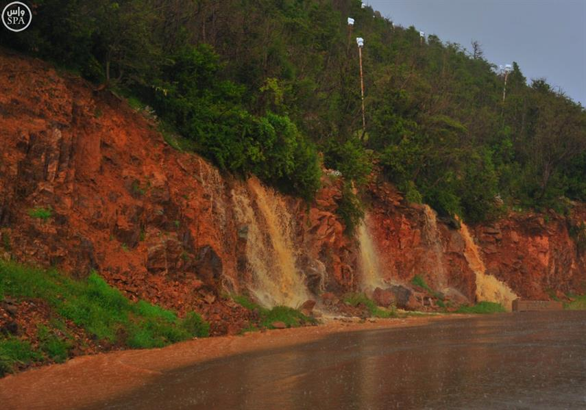 جمال الطبيعة تظهره أمطار الباحة