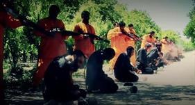 """""""جيش الإسلام"""" يعدم 18 مقاتلًا من """"داعش"""""""