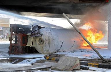 حادثة انفجار صهريج الغاز