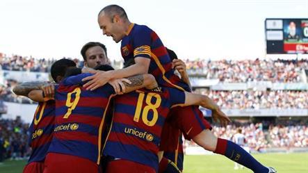 برشلونة بطلاً لمسابقة الدوري الإسباني