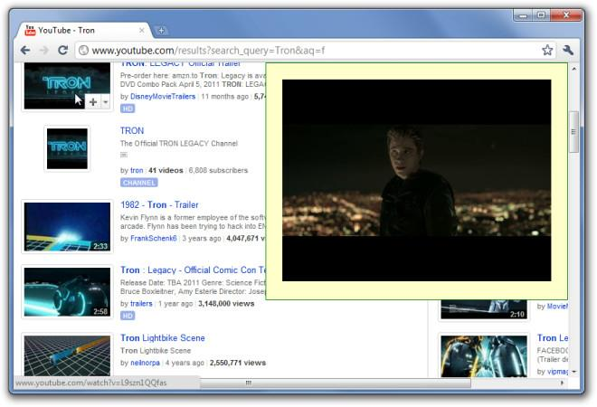 YouTube Picture in Picture extension