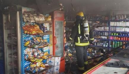 """""""مدني الطائف"""" يسيطر على حريق بمركز تموينيات غذائية بالحوية"""