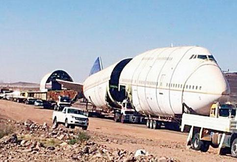 """مليون لنقل """"الطائرة المطعم"""" شاحنة"""
