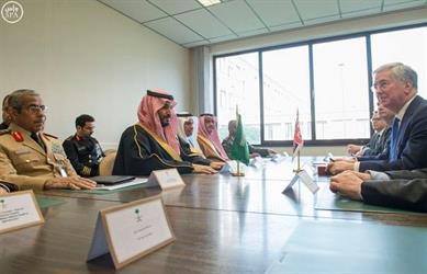 محمد بن سلمان يلتقي وزراء دفاع بريطانيا وإيطاليا وأمريكا وألمانيا