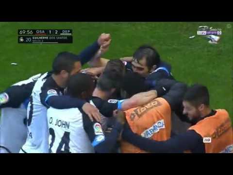 اوساسونا ( 2 - 2 ) ديبورتيفو لاكورونيا الدوري الاسباني