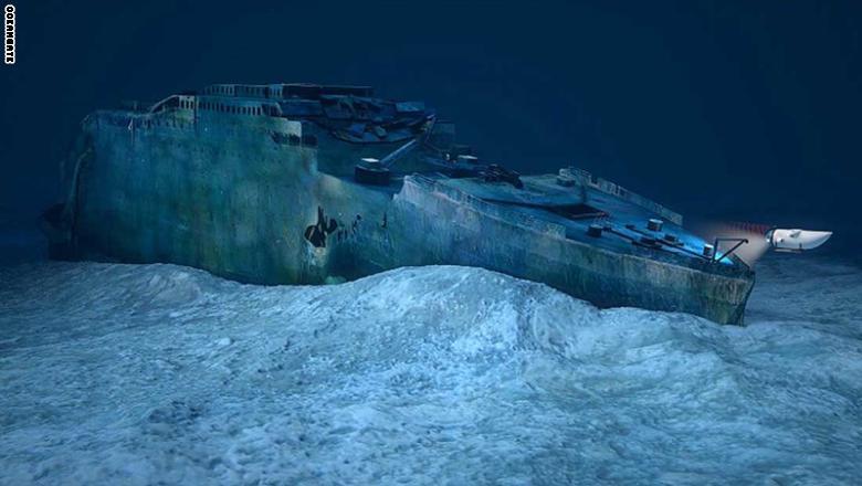 """تخطط شركة """"بلو ماربل برايفت"""" لتنسيق رحلات إلى موقع حطام سفينة التايتانيك في مايو/أيار بالعام 2018."""