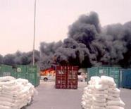 صورة من حريق الميناء