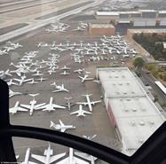 بالصور مطار لاس فيغاس ممتلئ بطائرات المشاهير لحضور ملاكمة القرن