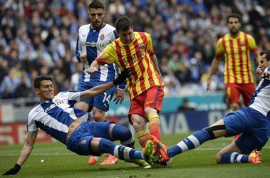 برشلونة يواجه جاره اسبانيول في ثمن النهائي