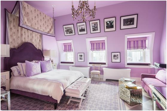 غرفة النوم الرئيسية .