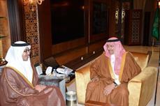 بالصور.. ولي ولي العهد يستقبل وزير خارجية دولة الإمارات العربية المتحدة