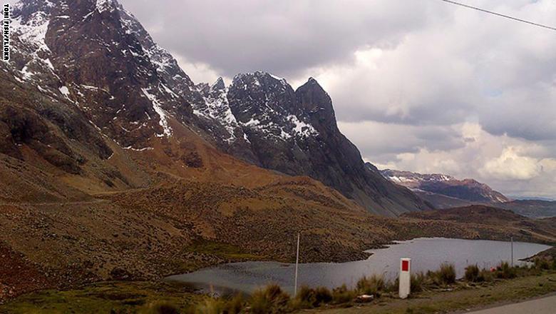 """طريق """"Ticlio Pass"""" في البيرو"""