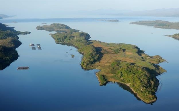 """جزيرة The King في اسكتلندا ، ويعود اسمها إلى الملك الدانماركي """"اولاف"""" الذي يُعتقد أنه توفى على أرضها ، وتضم مهبط طائرة هيليكوبت"""