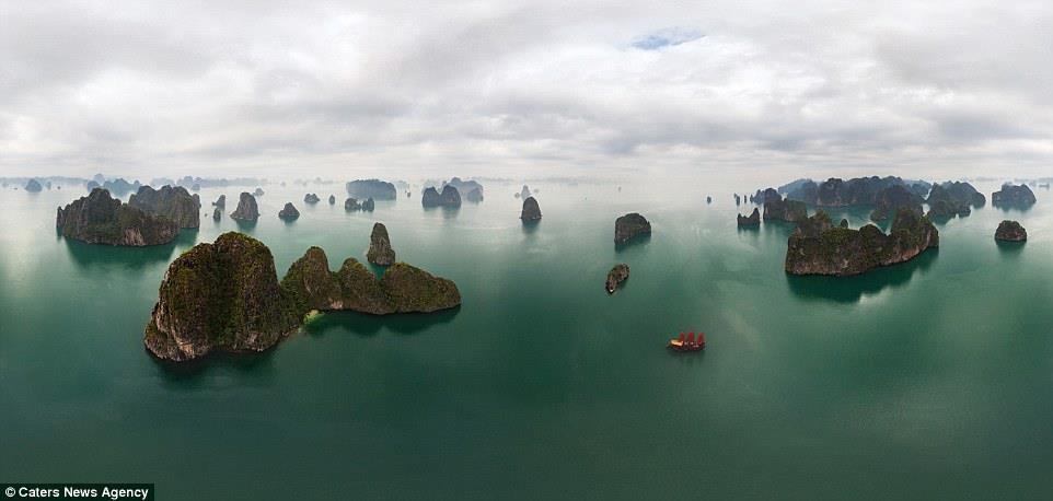 """واحدة من العجائب الطبيعية المذهلة في العالم، جزر """"لونغ ها"""" تنتشر في خليج فيتنام"""