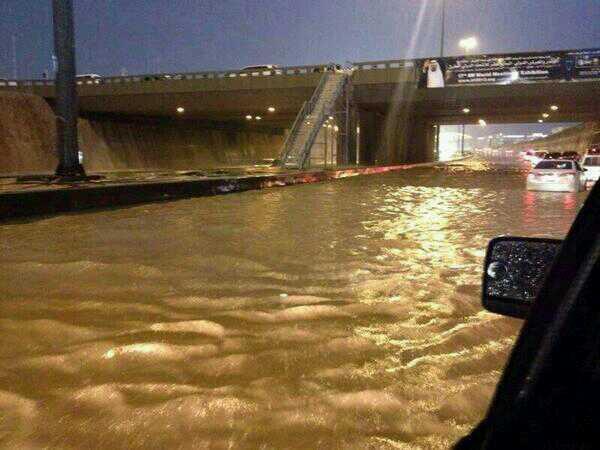 درجات الحرارة و حالة الطقس فى الرياض لمدة خمسة أيام المطر من الأثنين 6 1 2014 الى الجمعة 10 1 2014