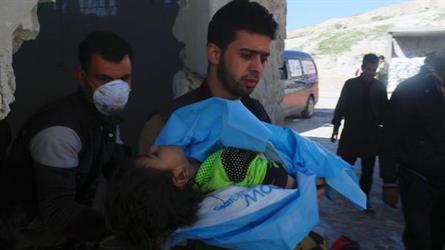 صورة من المجزرة التي ارتكبت قرب إدلب