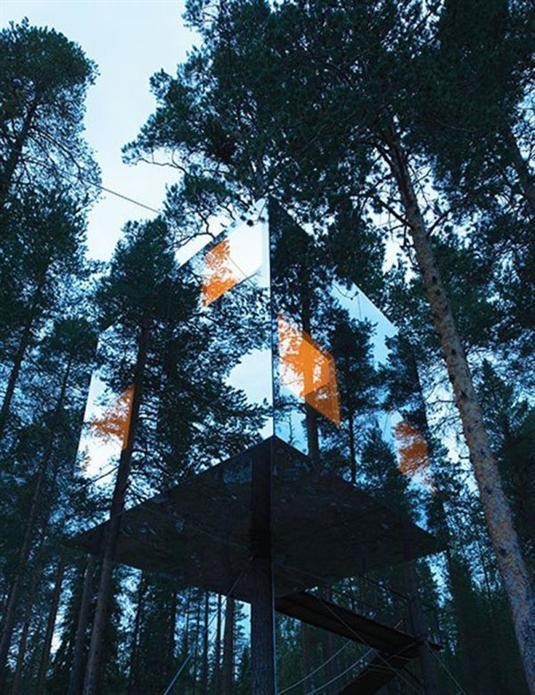 8- فندق الشجرة، السويد: