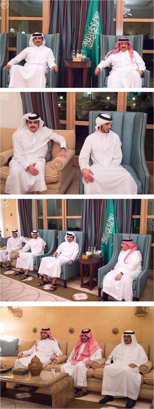 ولي العهد يستقبل أمير دولة قطر