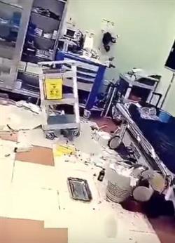 """بالفيديو.. مجهول يعتدي على مركز صحي بحائل.. و""""الشؤون الصحية"""" تكشف الملابسات"""