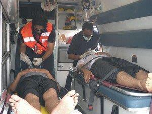 سقوط عاملين من سقالة واحتجاز يد آخر في فرامة