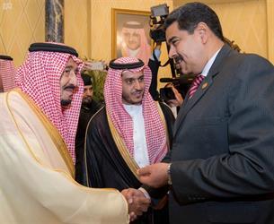 بالصور.. خادم الحرمين يستقبل الرئيس الفنزويلي ويعقد معه جلسة مباحثات