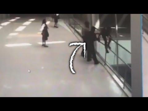 رجل أمن ينقذ شخصا حاول الانتحار في مطار لوس أنجلوس
