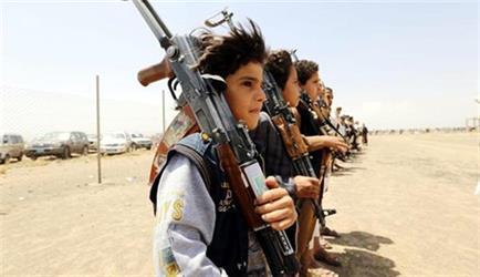 منظمة يمنية: تزايد حالات تجنيد الأطفال من قبل الحوثيين 5 أضعاف