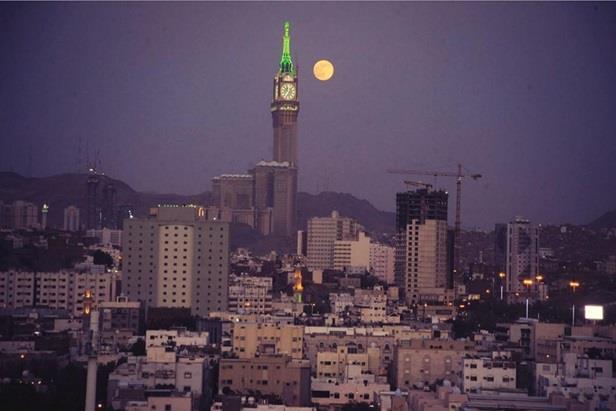 برج الساعة في مكة.