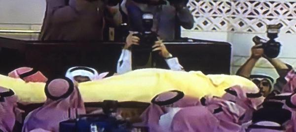 الصلاة جثمان الملك