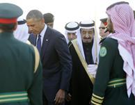 بالفيديو والصور .. الملك سلمان يستقبل الرئيس الأمريكي باراك أوباما في مطار الملك خالد بالرياض