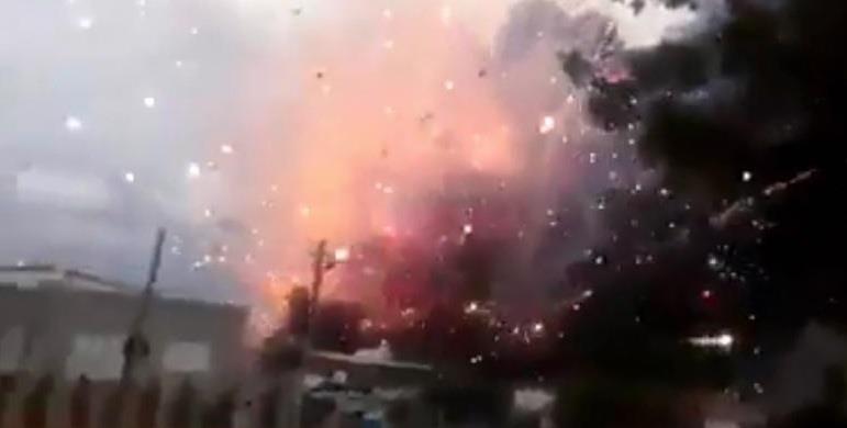انفجار مستودع ألعاب نارية في إسرائيل