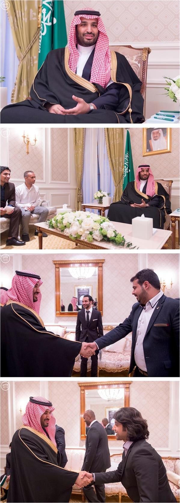ولي ولي العهد يلتقي الطلبة السعوديين المبتعثين في روسيا