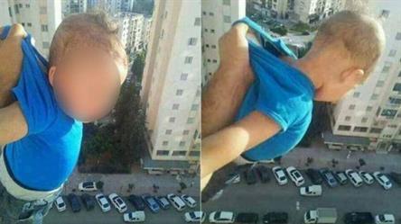 """الحكم بالسجن على جزائري """"دلى"""" طفله من النافذة"""