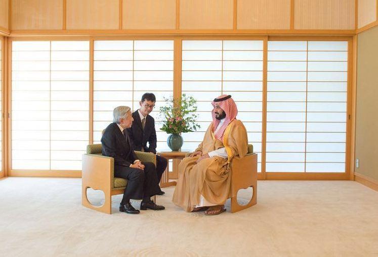 امبراطور اليابان يستقبل ولي ولي العهد