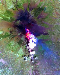 صور مذهلة للحظة ثورة البراكين من محطات الفضاء