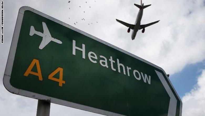 9. مطار لندن هيثرو في بريطانيا