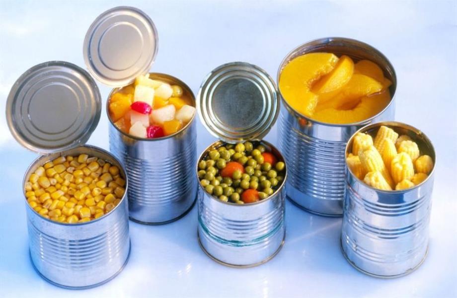 1) الأطعمة المعلبة: