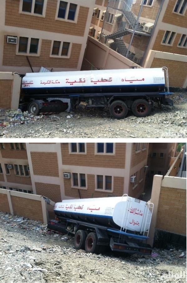 بالصور…شاحنة تقتحم مدرسة بنات بمكة 35a46992-73b6-4c88-9