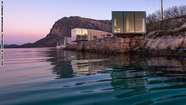 """كوخ """"مانهاوسن"""" في نوردلاند، النرويج من تصميم شركة ستينيسين للعمارة:"""
