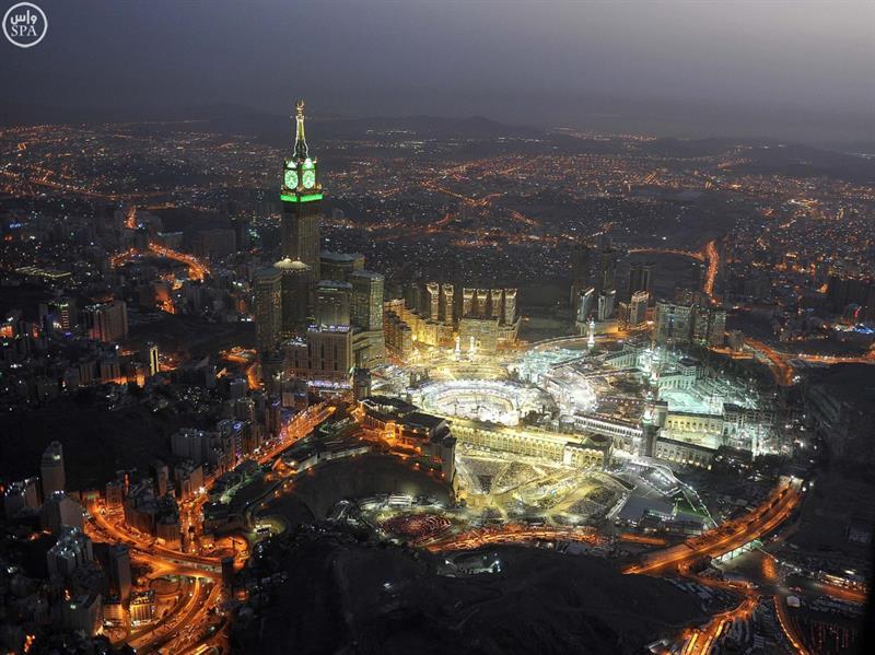 صور جوية بديعة لمشروعات التوسعة العملاقة في المسجد الحرام