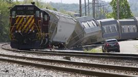 محققون: قطار فيلادلفيا ربما أصيب بـمقذوف