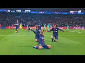 باريس سان جيرمان ( 4 - 0 ) برشلونة دورى ابطال اوروبا
