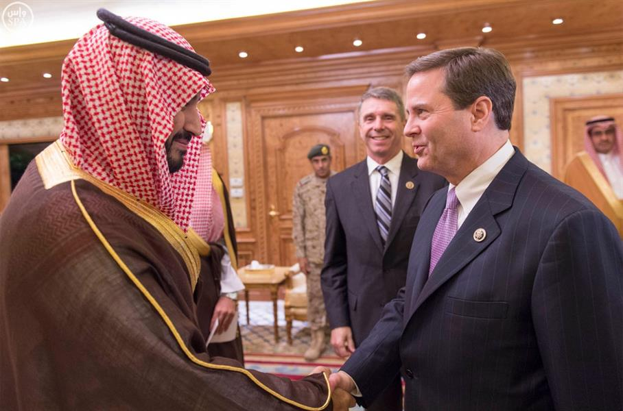 بالصور.. ولي ولي العهد يلتقي وفداً من الكونجرس الأمريكي
