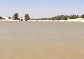 بالفيديو.. مواطن يصور متحسرا غرق مقبرة الدلم.. ويؤشر على بقعة في الماء: هنا قبر أبوي وشلون أزوره؟