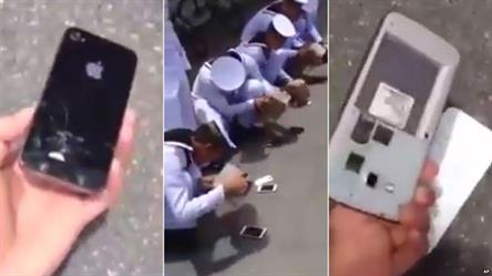 شاهد عقوبة طلاب عسكريين أحضروا جوالاتهم للتدريبات بتايلاند