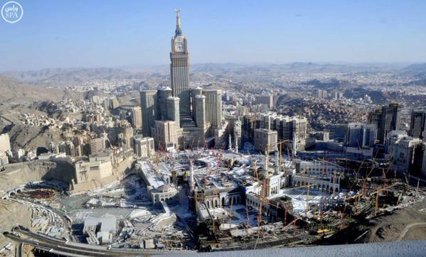 صور حديثة ترصد التوسعة العملاقة في المسجد الحرام