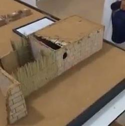 بالفيديو.. مجسم للمدينة المنورة في زمن النبي يتضمن بيته ومسجده