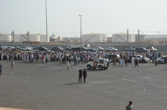 """عمال """"سعودي أوجيه"""" يتجمهرون في جدة احتجاجاً على تأخر رواتبهم لـ7 أشهر"""