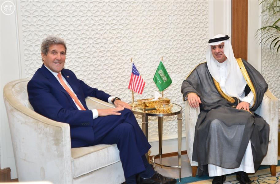 الجبير يلتقى وزير الخارجية الأمريكي